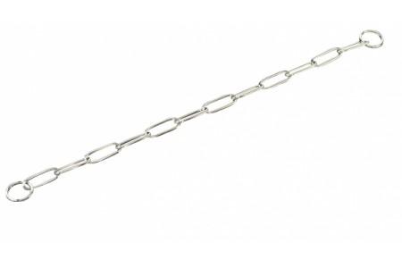 Цепь с длинными звеньями, для собак до 50 кг, хромированная сталь
